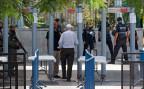 Die umstrittenen Metall-Detektoren beim Eingang zum Tempelberg in Jerusalem.