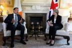 Der Irische Premier Vardkar und Britanniens Theresa May