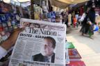 Zeitung in Islamabad verkündet die Absetzung Sharifs