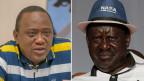 Der bisherige Präsident Uhuru Kenyatta (links) und sein Herausforderer Raila Odinga.
