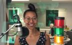 Amina Abdulkadir im Radiostudio Bern.