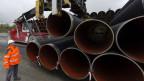 200'000 Rohre für Nordstream 2 sollen in Karlshamn an der schwedischen Südküste zwischengelagert werden.