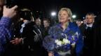 Auf dem Bild zu sehen ist Ministerpräsidentin Erna Solberg, am Tag der Wahl