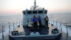 Mitglieder der libyschen Küstenwache vor Tripoli, Libyen.