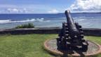 Ein altes Geschütz auf der Pazifikinsel von Guam.