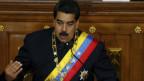 Nicolas Maduro, Präsident von Venezuela, sieht sich Drohungen von US-Präsident Donald Trump gegenüber.