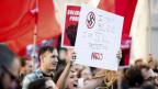 Gegenprotestanten in Charlottesville bei einem Aufmarsch von Rechtsextremisten.