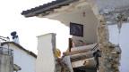Ein zerstörtes Haus in Amatrice, aufgenommen am 9.8.2017.