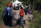 Migranten an der US-kanadischen Grenze