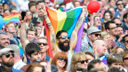 Homosexuelle feiern in Dublin am 23. Mai 2015 den Abstimmungssieg.