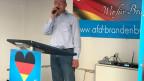 Klaus Riedelsdorf, Geschäftsführer der AfD in Brandenburg.