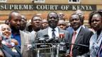 Oppositionsführer Raila Odinga, nachdem das Gericht Kenyattas Sieg für ungültig erklärt hat.
