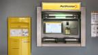 Bankomat von Postfinance.