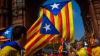Katalonische Fahne.