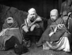 Koreanische Opfer von Napalm-Bomben 1951