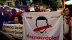 Demonstranten in Barcelona.