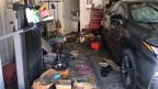 Schimmel in der Garage – alles verrottet.