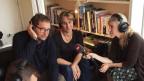 Im Gespräch mit Bernd Schwahn (links). Bild: Anita Richner.