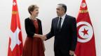 Bundesrätin Simonetta Sommaruga und der tunesische Innenminister Lotfi Brahem.