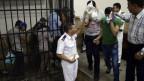 Ägypten geht rigoros gegen Homosexuelle vor - wie hier an einer Gerichtsverhandlung gegen Schwule 2014.