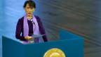 San Suu Kyi erhielt 1991 den Friedensnobelpreis.