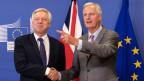 EU -Chef-Unterhändler Michel Barnier (rechts) und der Brexit-Minister David Davis.