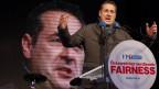 FPÖ-Chef Heinz-Christian Strache bei seinem Auftritt im Wiener Arbeiterbezirk Favoriten.
