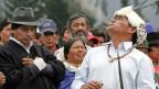 Indigene während einer Zeremonie in Ecuador.