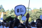 "Demonstration der Initiative ""Hablamos, parlem"""