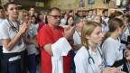 Streikende Mediziner in Krakau, Polen.