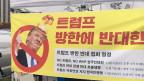 Donald Trump ist in Südkorea so unbeliebt wie in fast keinem anderen asiatischen Land. Bild: Martin Aldrovandi/SRF.