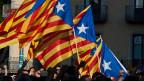 Katalanische Fahnen.