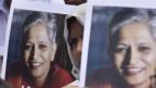 Proteste wegen der Ermordung der Journalistin Gauri Lankesh.
