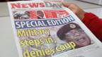 Eine Zeitung in Simbabwe über die Machtübernahme.