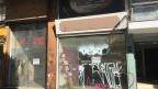 Leerstehende Geschäfte in Thessaloniki, Griechenland.