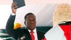 Emmerson Mnangagwa bei seiner Vereidigung.