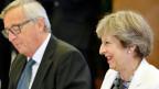 Der EU-Kommissionspräsident Jean-Claude Juncker und Grossbritanniens Premierministerin Theresa May.
