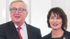 EU-Kommissionspräsident Jean-Claude Juncker und Doris Leuthard am 23. November in Bern.