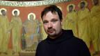 Benediktinerpater Nikodemus Schnabel in der Kapelle der Dormitio-Abtei auf dem Jerusalemer Zionsberg.