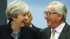 Grossbritanniens Premierministerin Theresa May und EU-Kommissionspräsident Jean-Claude Juncker.
