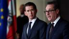 Sebastian Kurz (ÖVP) und Heinz-Christian Strache (FPÖ) stellen ihre Regierung vor.