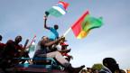 Jubel in Banjul, Gambia, nach den Präsidentschaftswahlen am 28. Januar 2017.