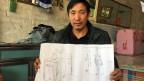 Liu Renwang, hat nach der Entlassung aus dem Gefängnis einen Künstler beauftragt, der seine Tortur zeichnen sollte.