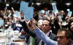 Delegierte der FDP Schweiz stimmen ab über die «No-Billag»-Initiative.