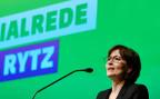Parteipräsidentin Regual Rytz an der Delegiertenversammlung der Grünen Partei Schweiz in Winterthur.