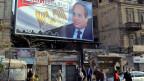 Der ägyptische Präsident Abdel Fatach al-Sisi auf einem Wahlplakat in Kairo.