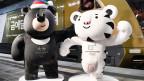 Die Maskottchen für die olympischen Winterspiele in Südkorea.