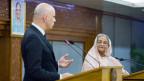 Bundespräsident Alain Berset, neben Sheikh Hasina, der Premierministerin von Bangladesch.