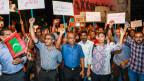Proteste von Anhängern der maledivischen Opposition am 4. Februar 2018.