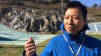 Kim Heungsoo arbeitet für das Organisationskommittee der Winterspiele, als Manager der Skisprungschanze.